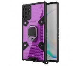 Husa Spate Upzz Techsuit Honeycomb Armor Cu Inel Metalic Compatibila Cu Samsung Galaxy Note 10 Plus Mov