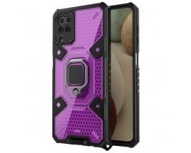 Husa Spate Upzz Techsuit Honeycomb Armor Cu Inel Metalic Compatibila Cu Samsung Galaxy A12 Mov
