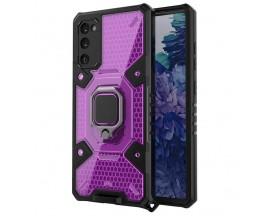 Husa Spate Upzz Techsuit Honeycomb Armor Cu Inel Metalic Compatibila Cu Samsung Galaxy A02s Mov