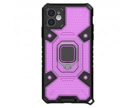 Husa Spate Upzz Techsuit Honeycomb Armor Cu Inel Metalic Compatibila Cu iPhone 12 Mov
