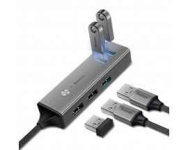 Adaptor HUB aluminiu 5-in-1 Baseus USB Type-C - 3x USB 3.0, 2x USB 2.0 - CAHUB-D0G