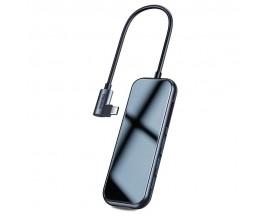 Adaptor Multihub Multifunctional Baseus Type-C la 3xUSB3.0 + HDMI 4K + SD/TF + PD, Grey - CAHUB-CZ0G