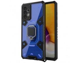 Husa Spate Upzz Techsuit Honeycomb Armor Cu Inel Metalic Compatibila Cu Samsung Galaxy A72 5G Albastru