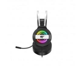 Casti gaming, Havit GAMENOTE H2026D, iluminare RGB, microfon omnidirectional, 2 x 3.5 Jack si USB, 2 m
