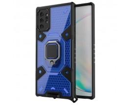 Husa Spate Upzz Techsuit Honeycomb Armor Cu Inel Metalic Compatibila Cu Samsung Galaxy Note 10 Plus Albastru
