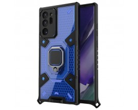 Husa Spate Upzz Techsuit Honeycomb Armor Cu Inel Metalic Compatibila Cu Samsung Galaxy Note 20 Ultra Albastru
