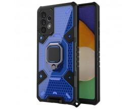 Husa Spate Upzz Techsuit Honeycomb Armor Cu Inel Metalic Compatibila Cu Samsung Galaxy A52 5G Albastru