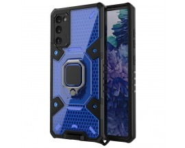 Husa Spate Upzz Techsuit Honeycomb Armor Cu Inel Metalic Compatibila Cu Samsung Galaxy A02s Albastru