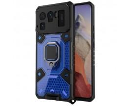 Husa Spate Upzz Techsuit Honeycomb Armor Cu Inel Metalic Compatibila Cu Xiaomi Mi 11 Ultra Albastru