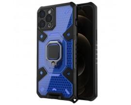 Husa Spate Upzz Techsuit Honeycomb Armor Cu Inel Metalic Compatibila Cu iPhone 12 Pro Max Albastru