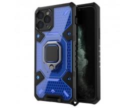 Husa Spate Upzz Techsuit Honeycomb Armor Cu Inel Metalic Compatibila Cu iPhone 11 Pro Albastru