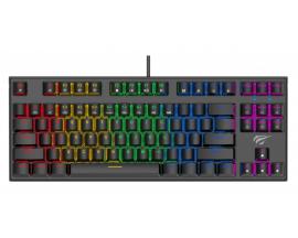 Tastatura mecanica Havit KB857L, 87 taste, LED multicolora, anti-ghosting - 19034344