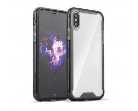 Husa Anti-shock Tpu Silicon Crystal Clear Compatibila cu iPhone 7 /8 / Se 2Transparenta Cu Margine Fumurie