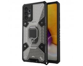 Husa Spate Upzz Techsuit Honeycomb Armor Cu Inel Metalic Compatibila Cu Samsung Galaxy A72 5G Negru