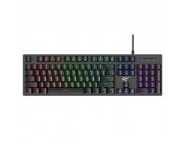 Tastatura gaming mecanica Havit Gamenote KB858L cu fir de 1.65m, conexiune USB, iluminat RGB, Negru - 9034443