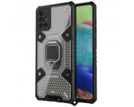 Husa Spate Upzz Techsuit Honeycomb Armor Cu Inel Metalic Compatibila Cu Samsung Galaxy A71 Negru