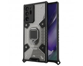 Husa Spate Upzz Techsuit Honeycomb Armor Cu Inel Metalic Compatibila Cu Samsung Galaxy Note 20 Ultra Negru