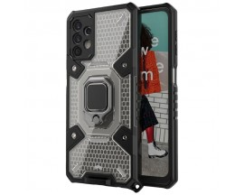 Husa Spate Upzz Techsuit Honeycomb Armor Cu Inel Metalic Compatibila Cu Samsung Galaxy A32 5G Negru