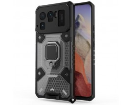 Husa Spate Upzz Techsuit Honeycomb Armor Cu Inel Metalic Compatibila Cu Xiaomi Mi 11 Ultra Negru