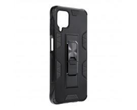 Husa Upzz Defender Antishock Compatibila Cu Samsung Galaxu A12 ,negru -stand Magnetic Pe Spate