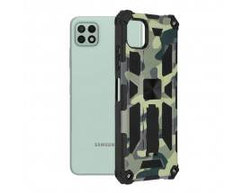 Husa Spate Upzz Tech Blazor Compatibila Cu Samsung Galaxy A22 5G, Camo