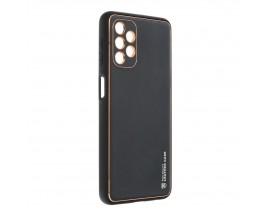 Husa Spate Cu Protectie La Camera Forcell Leather Compatibila Cu Samsung Galaxy A32 5G, Piele Ecologica, Negru