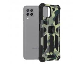 Husa Spate Upzz Tech Blazor Compatibila Cu Samsung Galaxy A22 4G, Camo