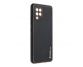 Husa Spate Cu Protectie La Camera Forcell Leather Compatibila Cu Samsung Galaxy A42 5G, Piele Ecologica, Negru