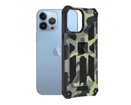 Husa Spate Upzz Tech Blazor Compatibila Cu iPhone 13 Pro, Camo