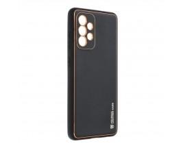 Husa Spate Cu Protectie La Camera Forcell Leather Compatibila Cu Samsung Galaxy A52 4G / A52 5G, Piele Ecologica, Negru