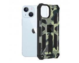 Husa Spate Upzz Tech Blazor Compatibila Cu iPhone 13, Camo