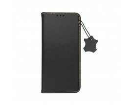 Husa Tip Carte Forcell Smart Pro Case Compatibila Cu iPhone 11, Piele Naturala, Negru