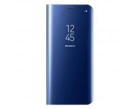 Husa Tip Carte S View Mirror Compatibila Cu Xiaomi Redmi Note 9, Albastru
