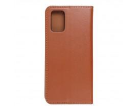 Husa Tip Carte Forcell Smart Pro Case Compatibila Cu Samsung Galaxy A72 4G, Piele Naturala, Maro