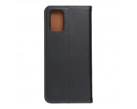 Husa Tip Carte Forcell Smart Pro Case Compatibila Cu Samsung Galaxy A72 4G, Piele Naturala, Negru