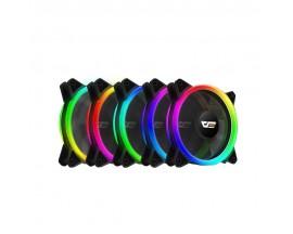 Set 5 ventilatoare DR12 PRO 5 in 1 RGB cu controller si telecomanda 120 x 120 - 70074662