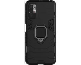 Husa Spate Upzz Techsuit Shield Cu Inel Metalic Compatibila Cu Xiaomi Poco M3 Pro 5G / 4G, Negru