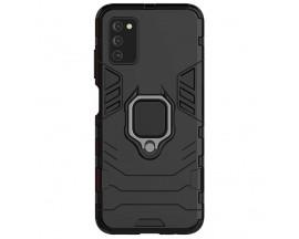 Husa Spate Upzz Techsuit Shield Cu Inel Metalic Compatibila Cu Samsung Galaxy A03s, Negru