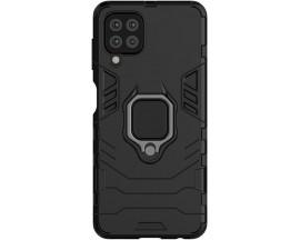 Husa Spate Upzz Techsuit Shield Cu Inel Metalic Compatibila Cu Samsung Galaxy A22 4G, Negru