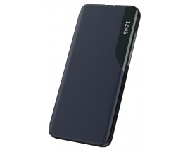Husa Tip Carte Upzz Eco Book Compatibila Cu OnePlus Nord N200 5G, Piele Ecologica - Dark Blue