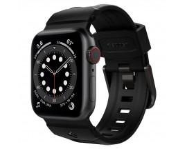 Curea Ceas Spigen Rugged Band Compatibila Cu Apple Watch 2 / 3 / 4 / 5 / 6 / SE ( 38/40mm ) Negru