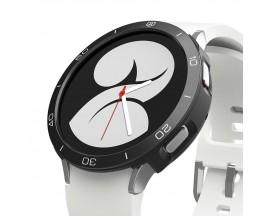 Husa Protectie Cadran si Rama Ringke Bezel Air Compatibila Cu Samsung Galaxy Watch 4 40mm, Silver Negru