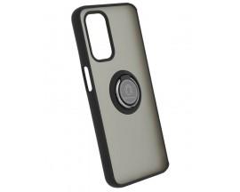 Husa Spate Premium Upzz Techsuit Glinth Cu Ring Metalic Pe Spate, Compatibila Cu OnePlus N200 5G,  Negru