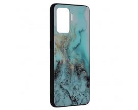 Husa Spate Premium Upzz Techsuit Glaze, Compatibila Cu Oppo Reno 5 Lite, Blue Ocean