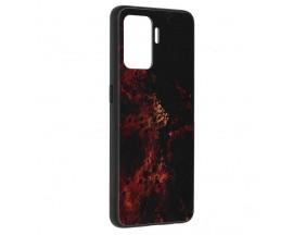 Husa Spate Premium Upzz Techsuit Glaze, Compatibila Cu Oppo Reno 5 Lite, Red Nebula