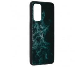 Husa Spate Premium Upzz Techsuit Glaze, Compatibila Cu Oppo Reno 55G, Blue Nebula