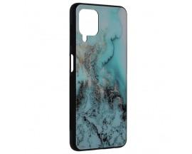 Husa Spate Premium Upzz Techsuit Glaze, Compatibila Cu Samsung Galaxy A22 4G, Blue Ocean