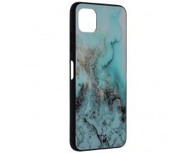 Husa Spate Premium Upzz Techsuit Glaze, Compatibila Cu Samsung Galaxy A22 5G, Blue Ocean