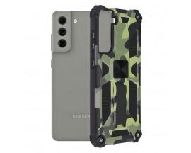 Husa Spate Upzz Tech Blazor Compatibila Cu Samsung Galaxy S21 FE, Camo