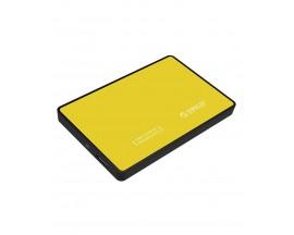 "Rack Orico, compatibil HDD/SSD 2.5"" SATA III, USB 3.0, Galben - 61868730"